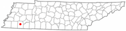 Location of Bolivar, Tennessee