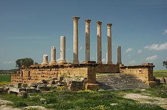 Thuburbo Majus - Ruins of the Capitolium