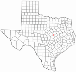 Location of Moody, Texas