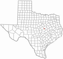 Location of Moody, Texas