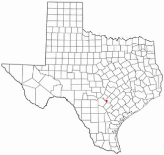 Santa Clara, Texas - Image: TX Map doton Santa Clara