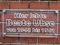 Tafel an der Propstei Flensburg, Hier lebte Beate Uhse von 1948-1961, Bild 03.jpg