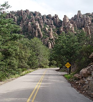 Chiricahua - Chiricahua National Monument entrance roadway