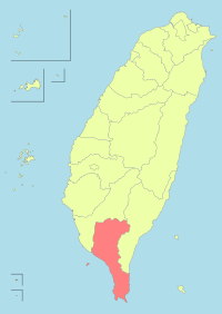 Taiwan ROC political division map Pingtung County.svg
