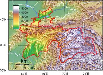 Το οροπέδιο Παμίρ, μεγάλο μέρος του ανήκει στο Τατζικιστάν