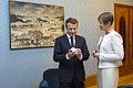Tallinn Digital Summit. Meeting of Estonian President Kersti Kaljulaid and French President Emmanuel Macron (37374331031).jpg