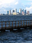 Tampa Skyline With Boat Dock at Ballast Point Park.JPG