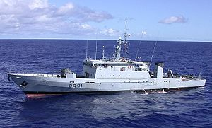 Armed Forces of Gabon - The Gabonese Navy uses a P400-class patrol vessel similar to this one