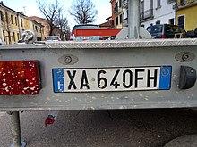 datazione targa auto