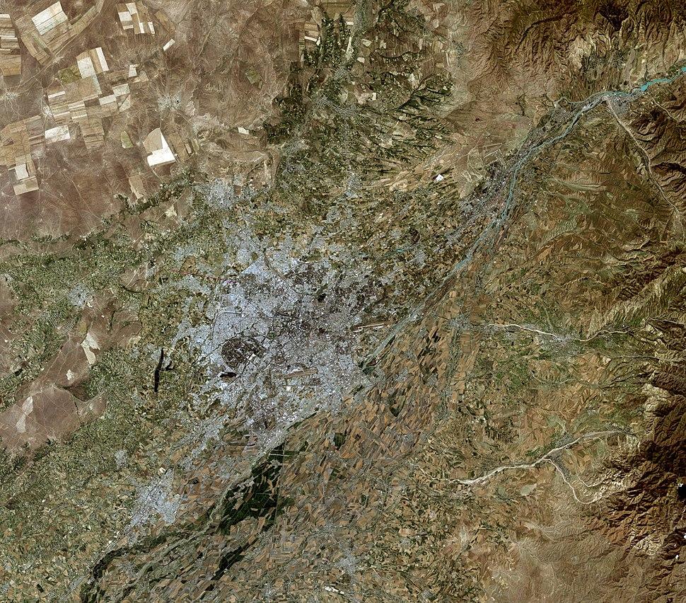 Tashkent, Uzbekistan, city and vicinities, satellite image LandSat-5,2010-06-30
