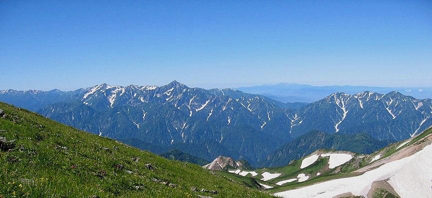 白馬岳付近から望む立山連峰