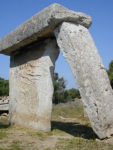 One of Menorca's taulas, dating back to the Bronze Age.