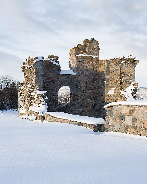 Tautra kloster ruin vinter