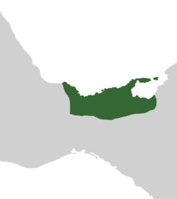 Tabasco at its greatest extent, 1513-1519 (green).