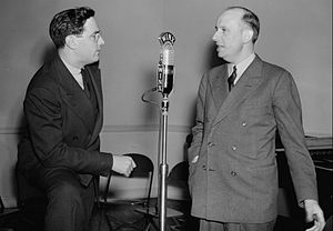 Ted Weems - Ted Weems (right) with William P. Gottlieb, WINX Studio, Washington, D.C., ca. 1940.