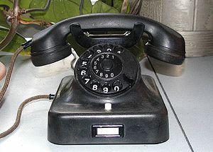 Ein voll funktionsfähiges altes Telefon
