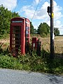 Telephone box and postbox, Hadleigh Heath - geograph.org.uk - 1474373.jpg
