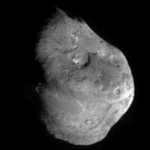 Extinct comet - Comet nucleus of 9P/Tempel as imaged by the NASA Deep Impact space probe, this is not extinct yet but gives some idea a nucleus