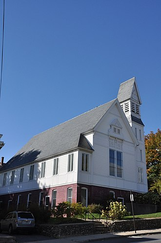 National Register of Historic Places listings in northern Worcester County, Massachusetts - Image: Templeton MA Baldwinville Congregational Church