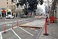 Temporary bus stop for Van Ness BRT construction, January 2018.jpg