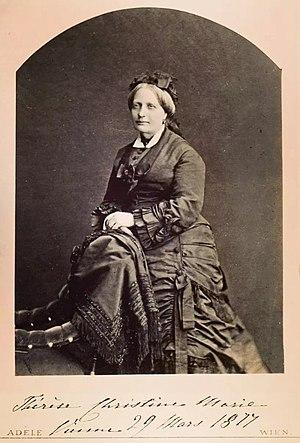 Teresa Cristina of the Two Sicilies - Teresa Cristina at age 55, 29 March 1877