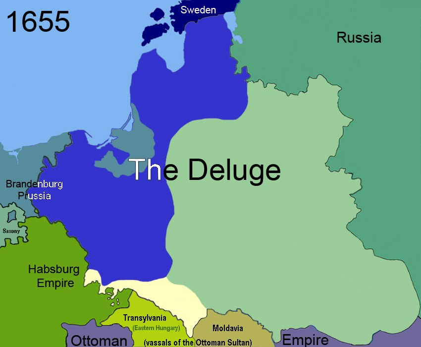 Territorial changes of Poland 1655