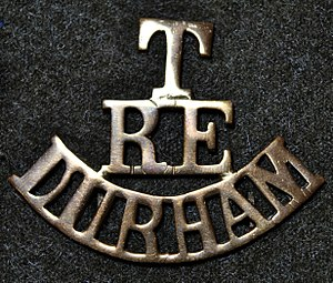 1st Durham Engineers - Shoulder title of Durham Territorial Engineers