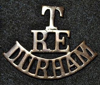 1st Durham Engineers - Shoulder title of Durham Territorial Engineers