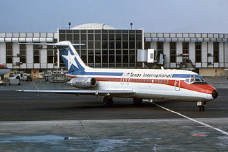 Texas International Airlines - A Texas International Airlines DC-9-15 at Los Angeles International Airport