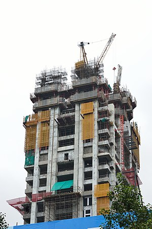The 42 (Kolkata) - Image: The 42 Residential Building under Construction 42B Chowringhee Road Kolkata 2015 08 16 3443