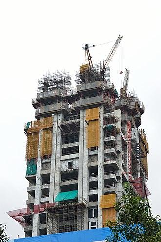 The 42 (Kolkata) - Image: The 42 Residential Building under Construction 42B Chowringhee Road Kolkata 2015 08 16 3443