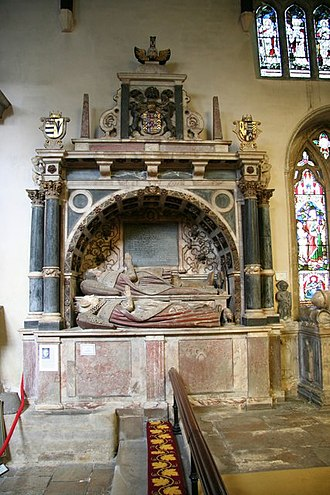 Roger Manners, 5th Earl of Rutland - Tomb for Roger Manners, 5th Earl of Rutland and his wife Countess Elizabeth, daughter of Sir Philip Sidney in St. Mary's church