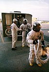 The Apollo 15 crew leaves the transfer van at the pad prior to launch.jpg