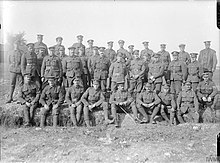 Group photo of soldiers of the 149th (Northumbrian) Brigade in October 1916