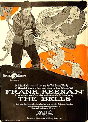 The Bells (1918 film) - Ad for film