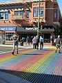 The Castro - Harvey´s Bar, Ped Xing in Rainbow Colours.JPG