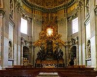 Presbiterio de la basílica.