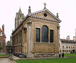Pembroke College, the Chapel with Hitcham's Cloister