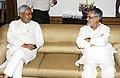 The Chief Minister of Bihar, Shri Nitish Kumar meeting the Union Minister for Road Transport and Highways, Dr. C.P. Joshi to discuss the issues related to road transport sector in Bihar, in New Delhi on September 16, 2011.jpg