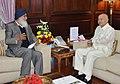The Chief Minister of Punjab, Shri Prakash Singh Badal calls on the Union Home Minister, Shri Sushil Kumar Shinde, in New Delhi on October 29, 2012.jpg