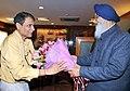 The Chief Minister of Punjab, Shri Prakash Singh Badal meeting the Union Minister for Railways, Shri Suresh Prabhakar Prabhu, in New Delhi on February 12, 2015.jpg
