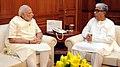 The Chief Minister of Tripura, Shri Manik Sarkar calling on the Prime Minister, Shri Narendra Modi, in New Delhi on June 16, 2015.jpg
