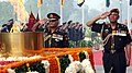 The Chief of Army Staff, Gen. V.K. Singh and the Vice Chief of Army Staff, Lt Gen. P.C. Bhardwaj, paying homage, at Amar Jawan Jyoti on the occasion of Infantry Day, in New Delhi on October 27, 2010.jpg