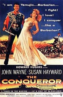 <i>The Conqueror</i> (1956 film) 1956 film by Dick Powell