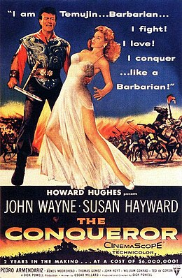 The Conqueror (1956) film poster.jpg