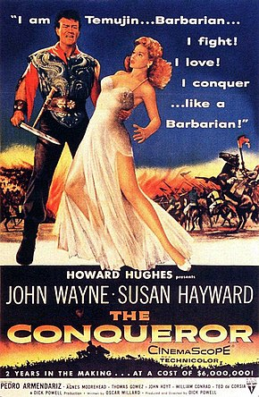 alt=Description de l'image The Conqueror (1956) film poster.jpg.