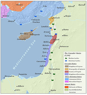 Crusade of 1197 - Image: The Crusader States (1200)