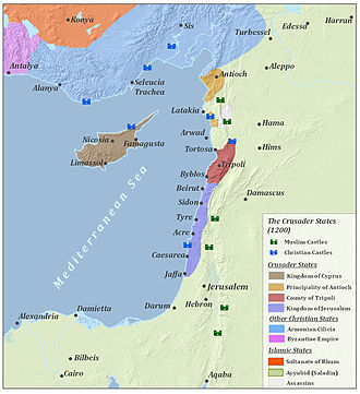 Crusade of 1197 - Crusader states about 1200