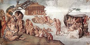 تابلوی توفان نوح، اثر میکل آنژ