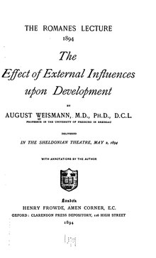 The Effect of External Influences upon Development.djvu
